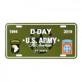 LICENCE PLATE D-DAY U.S. ARMY